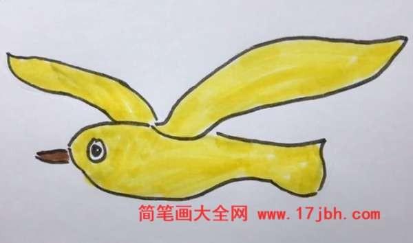 海鸥的简笔画步骤图片
