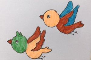 飞鸟的简笔画