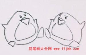 企鹅简笔画图片大全
