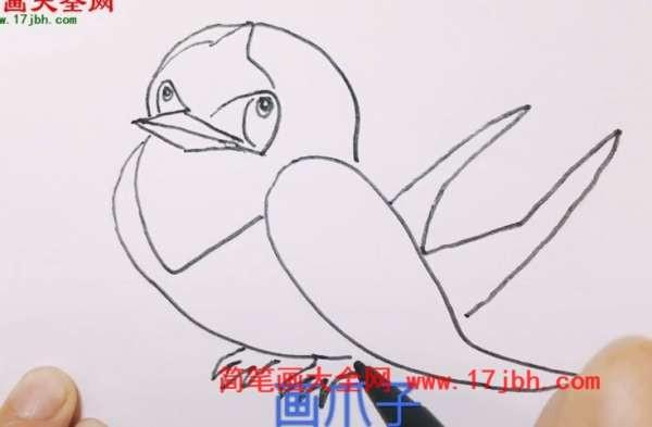 春天燕子简笔画