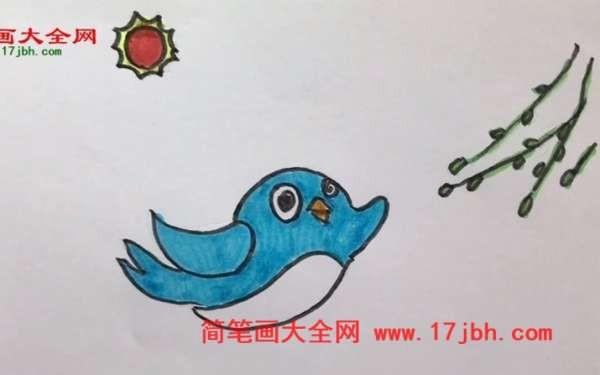 小燕子简笔画