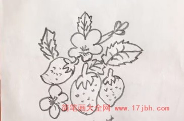 草莓简笔画