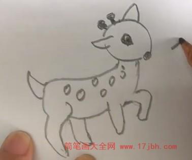 梅花鹿怎么画简单好看