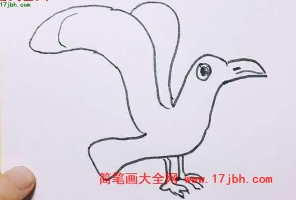海鸥简笔画