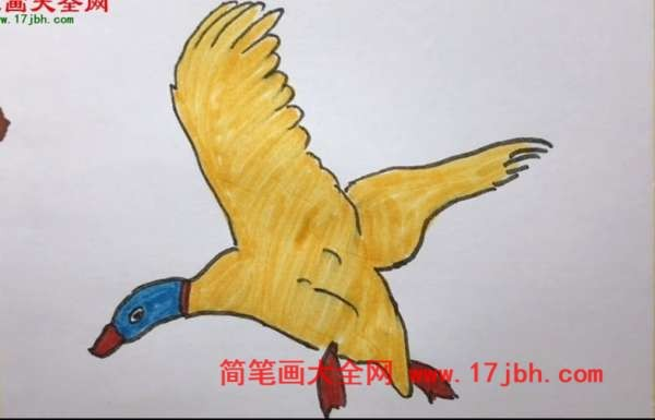 大雁简笔画