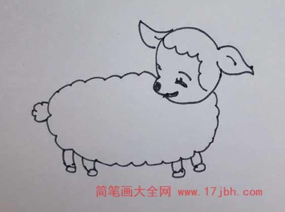 羊怎么画可爱