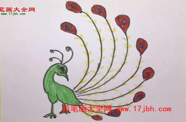 凤凰简笔画