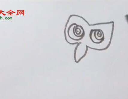 简单猫头鹰简笔画