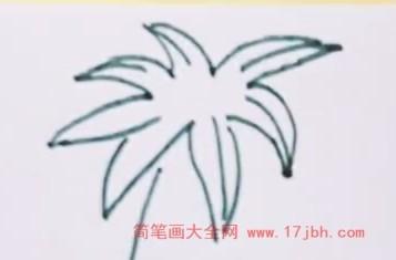 椰子树风景简笔画
