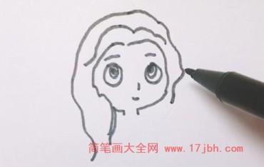 贝儿公主简笔画简单又好看