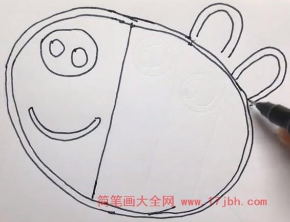 斑马苏怡简笔画