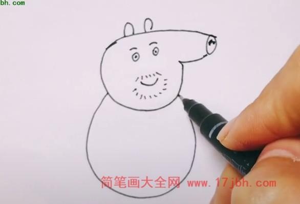 猪伯伯简笔画