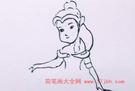 贝儿公主简笔画教程