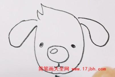 狗简笔画图片大全