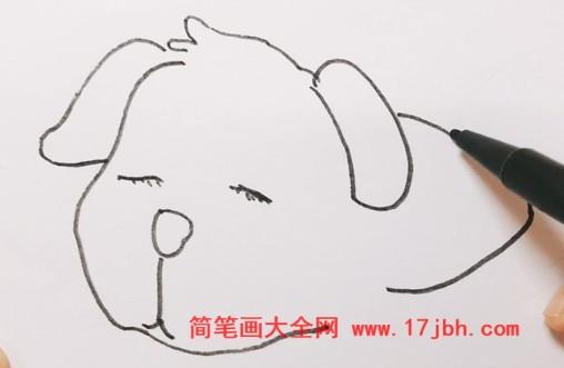 小狗睡觉简笔画