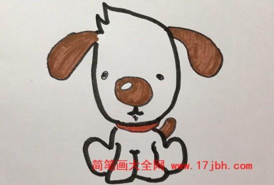 卡通狗狗图片简笔画