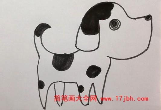 斑点狗简笔画