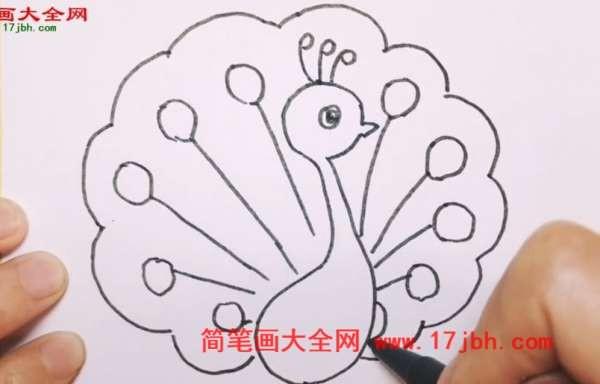 孔雀简笔画图片大全