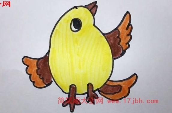 麻雀怎么画简笔画