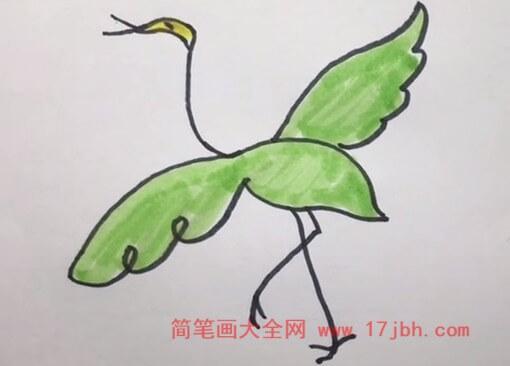 白鹭简笔画