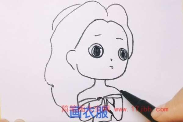 贝儿公主简笔画步骤图