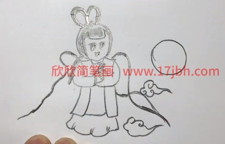 卡通嫦娥简笔画
