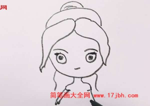 贝儿公主简笔画简单又漂亮