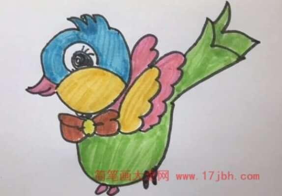卡通小鸟简笔画