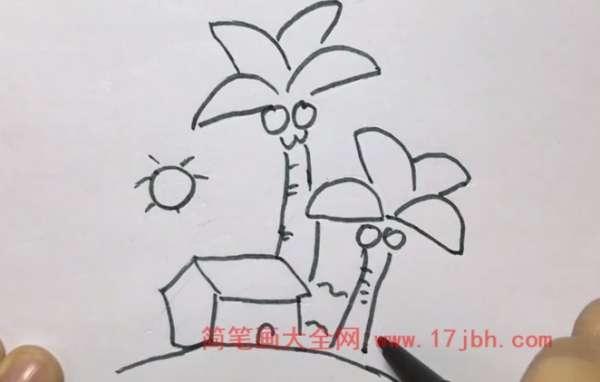 海南风景儿童画