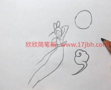 嫦娥简笔画简单又漂亮
