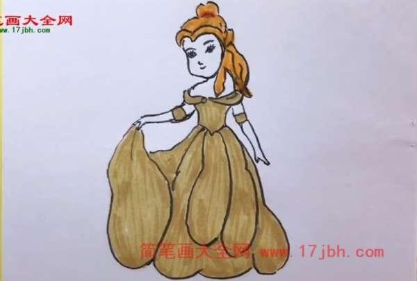 贝儿公主简笔画图片