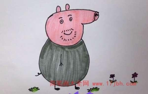 小猪佩奇怎么画简笔画