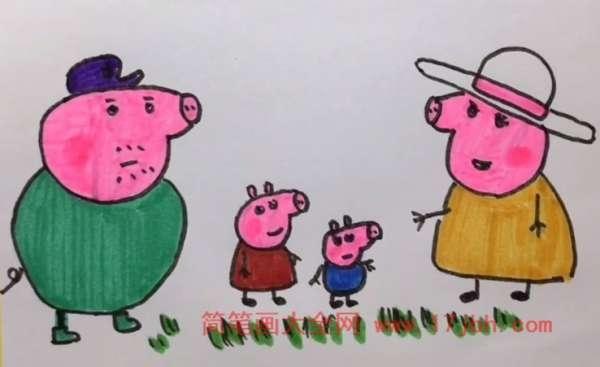 小猪佩奇乔治简笔画