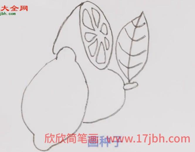 柠檬简笔画图画