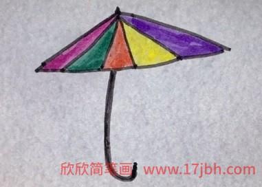 雨伞简笔画图片大全