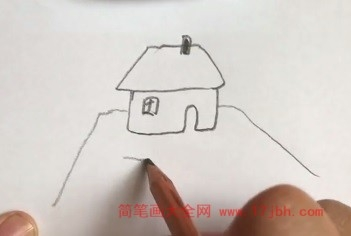 儿童春天风景简笔画