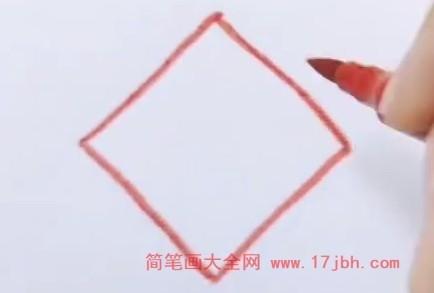 中国结简笔画步骤图解