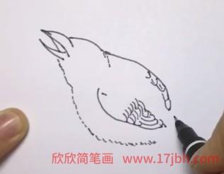 鸟简笔画彩色