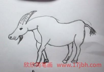 山羊的简笔画怎么画