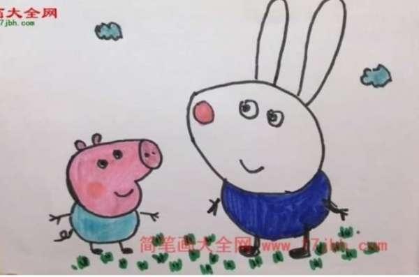 小猪佩奇简笔画大全