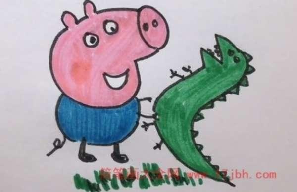 画小猪佩奇简笔画