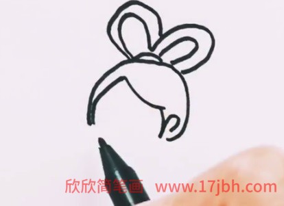 嫦娥简笔画彩色简单
