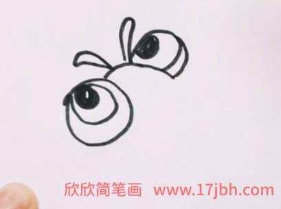 七星瓢虫简笔画步骤图