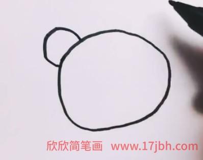 大熊猫简笔画可爱