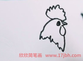 公鸡简笔画图片