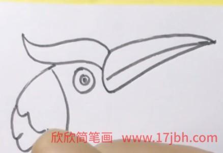 翠鸟简笔画颜色