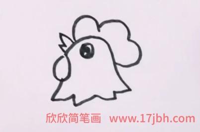 公鸡简笔画简单又漂亮