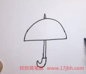 雨伞简笔画