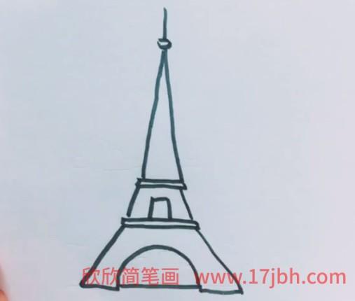 埃菲尔铁塔简笔画视频