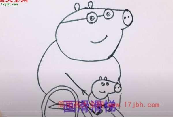 猪爸爸简笔画